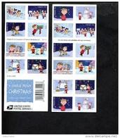 349391026 USA POSTFRIS MINT NEVER HINGED POSTFRISCH EINWANDFREI SCOTT 5030b Christmas Charlie Brown Cartoons - Carnets