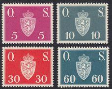 NORVEGIA - NORGE - 1952/1953 - Lotto 4 Valori Nuovi Con Leggerissime Tracce Di Linguella, MH, Yvert 60, 61, 63 E 65 - Service