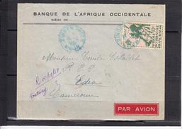 A.O.F Lettre De ZINDER Niger AVION  Nov 1951   Pour Les P.T.T. A  EDEA Cameroun  Timbre A 10F - A.O.F. (1934-1959)