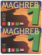 1689 - MAGHREB 2 Und10 CHF Prepaid Telefonkarten - Suisse
