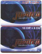 1691 - JUPITER 5 Und 10 CHF Prepaid Telefonkarten - Schweiz