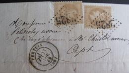 LOT R1494/64 - NAP III Lauré N°28A (LAC) GC 2825 PERTUIS (Vaucluse) INDICE 3 > APT (Vaucluse) - 1863-1870 Napoléon III Lauré