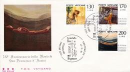 Vatikan FDC/ET 1977 Mi: 698 - 700 750. Todestag Des Hl. Franz Von Asisi - FDC