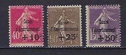 """FR YT 266 267 268 """" Caisse D´amortissement  4e Série """" 1930 Neuf* - France"""