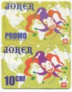 1692 - JOKER Promo Und 10 CHF Prepaid Telefonkarten - Schweiz