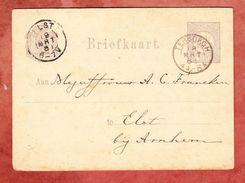 P 8/b I Ziffer, Terborgh Nach Elst, AK-Stempel 1881 (41400) - Postal Stationery