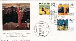 Vatikan FDC/ET 1977 Mi: 695 - 697. 750. Todestag Des Hl. Franz Von Asisi - FDC