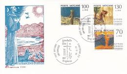 Vatikan FDC/ET 1977 Mi: 695 - 697. 750. Todestag Des Hl. Franz Von Asisi - Lettres & Documents