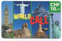 1694 - World Call CHF 10.- Prepaid Telefonkarte - Suisse