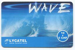 1695 - WAVE 10+5 CHF Prepaid Telefonkarte - Suisse