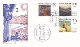 Vatikan FDC/ET 1977 Mi: 698 - 700. 750. Todestag Des Hl. Franz Von Asisi - FDC