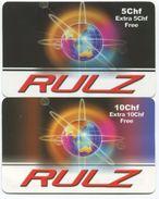 1697 - RULZ 5 + 10 CHF Prepaid Telefonkarte - Suisse