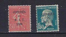 """FR YT 264 & 265 """" Congès Du BIT, Semeuse Et Pasteur """" 1930 Neuf* - France"""