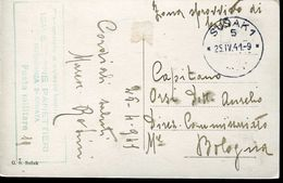 25307  Italy Feldpost 25.4.1941  From Susak To Bologna  (see 2 Scan) - 1931-1941 Kingdom Of Yugoslavia