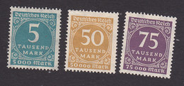 Germany, Scott #238A-240, Mint Hinged/No Gum, Number, Issued 1923 - Allemagne