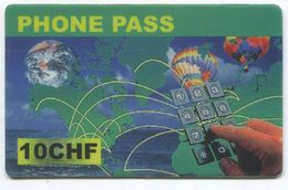 1699 - Phone Pass 10 CHF Prepaid Telefonkarte - Suisse