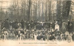 CHASSE A COURRE EN FORET DE FONTAINEBLEAU  AVANT LA CUREE - Hunting