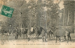 CHASSE A COURRE EN FORET DE FONTAINEBLEAU   RELAIS DE CHEVAUX - Hunting