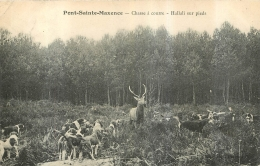 CHASSE A COURRE  PONT SAINTE MAXENCE HALLALI SUR PIEDS - Hunting
