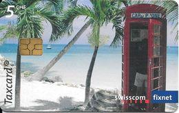 Swisscom:  CP169 Exotische Telefonkabinen. Dickenson's Bay, Antigua. GM 5 - Suisse