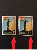 Ghana 1959 Def Scott 49 Yellow Colour Shifted Right - Ghana (1957-...)