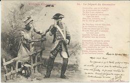 Illustrators - Signed > Bergeret. Nancy 1902 Vieilles Chansons - Le Depart Du Grenadier - Bergeret