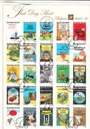 Belgique Belgie 2007,25V In Block,Kuifje,Tintin,Hergé,First Day Sheet,(C281) - Stripsverhalen