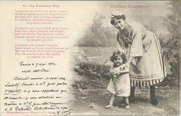 Illustrators - Signed > Bergeret. Nancy 1902 Vieilles Chansons - La Premier Pas.Postcard Via Geneve Suisse - Bergeret