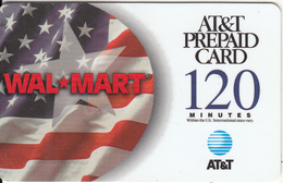 ALASKA - Flag, Wal Mart, AT&T Magnetic Prepaid Card 120 Min, Used - Telefoonkaarten