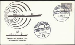 Germany Kiel Gaarden 1964 / Ships / 1st European Nuclear Ship - Ships