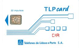 PHONECARDS-PORTUGAL- CHIP- TLP CARD 50 U--DIR (RED )--MINT - Portugal