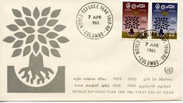 CEYLON - INTERNATIONAL REFUGEE YEAR 1960  FDC241 - Sri Lanka (Ceylon) (1948-...)