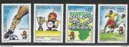 1992 Senegal African Football Tournament Complete Set Of 4 MNH - Senegal (1960-...)