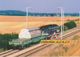 BB 67400 Avec Wagon Pour Transport De Déchets Nucléaires, à Airan (14) - - France
