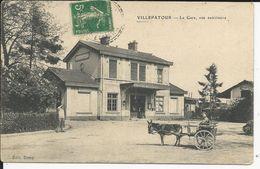 Villepartour     La Gare Attelage Avec Un Ane - Autres Communes