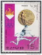 DPR Korea 1976 Sc. 1494 XXI Olimpiade Montreal Medaglie D ' Oro Corsa Ad Ostacoli Guy Drut Gold Winners - Estate 1976: Montreal