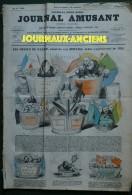1856 LE JOURNAL AMUSANT N° 2 LES DESSUS DE PANIER Par BERTALL - Charles PHILIPON - Collections