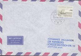 Greenlnd Luftpost Air Mail GODTHÅB Nuuk 1976 Cover Brief FLENSBURG Germany (Cz. Slania) Stamp - Groenlandia