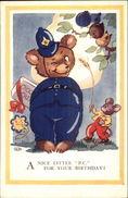 Teddy Bear Cop Police Officer Fantasy Birthday Postcard - Stripverhalen