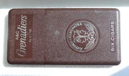 Vintage A&C Grenadiers NCIW Antonio & Cleopatra Pocket Size Cigar Box Case Retro - Scatola Di Sigari (vuote)