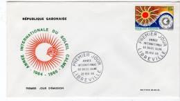 FDC - GABON - 1965 - Année Internationale Du Soleil Calme - Gabon (1960-...)