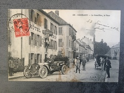CPA 90 Giromagny Diligence Voiture La Grand Rue La Place - Giromagny
