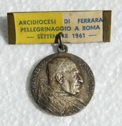 RARE MEDAGLIA ARCIDIOCESI DI FERRARA PELLERINAGGIO A ROMA 1961 - Iohannes XXII - Royal/Of Nobility