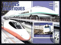 Train, Eisenbahn, Locomotive, Railway: Togo 2010 3000 F Shinkansen Ja[an + THSR Taiwan, CRH2 China - Trains