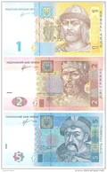 Ukraine - Pick 116A, 117c, 118d - 1, 2, 5 Hryvnia,Hryvni,Hryven 2011, 2013 - Unc - Set 3 Banknotes - Ukraine