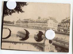 Ville Besançon Pont A Situer Le Doubs 25000 Vers 1900  1890 Ancienne Photo Pont Republique ? - Lieux