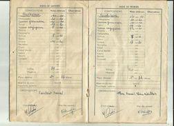Ecole Pulique De Mr Joseph Le Brix _Carnet  Correspondance Eleve NEBINGER Gilles Année 1959-60 Voir Scan - Diplômes & Bulletins Scolaires