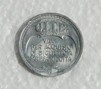 Gettone Azienda UITE Genova 1944 XXII - Monetary/Of Necessity