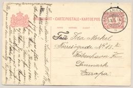 Nederlands Indië - 1914 - 5 Cent Briefkaart Volbeschreven Van KB LABOEANROEKOE Naar Kobenhavn / Danmark - Nederlands-Indië