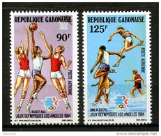 Gabon, 1984, Olympic Summer Games Los Angeles, Basketball, Athletics, MNH, Michel 904-905 - Gabun (1960-...)